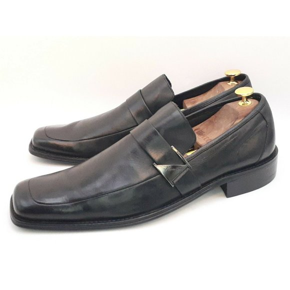 Kenneth Cole Reaction Mens Black Leather Loafer 11